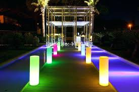 led outdoor landscape lighting led tower pillar um cylinder floor lamp outdoor landscape lights round a