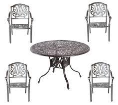 5 piece outdoor dining set cast