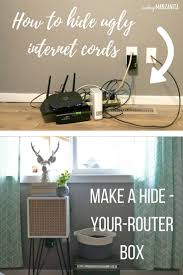How To Hide Router Cords With A Mid-Century Side Table. Electrical ...