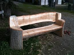 This bench was made from and urban poplar tree, all the edges are rounded  and