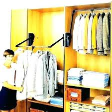 valet hafele closet rod light pull down clothes extra led