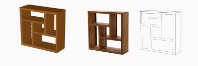 cubism furniture. This Bookcase Is Composed Of Various Rectangular Shapes. The Rectangles Have Been Arranged To From An Abstract Shape. However, Collection Cubism Furniture
