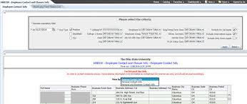 employee contact info employee contact information hrb330 assist online help