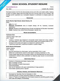Resume Template For High School Student Internship Kantosanpo Com
