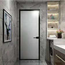 aluminium frosted glass bathroom door