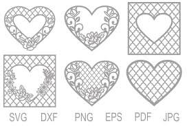 It should be unzipped firstly with winrar software or free 7zip software and you get different file formats: Heart Svg Lace Heart Svg Quatrefoil Heart Heart Cut Files 211257 Svgs Design Bundles