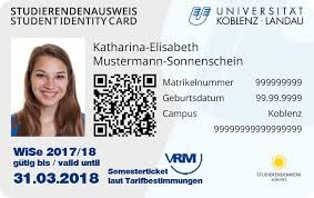 Unicard — Koblenz New The Student Card Of Id University Landau · BBTrq