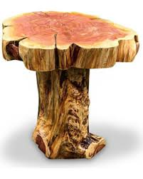 trunk table furniture. Live Edge Wood Slab End Table Tree Trunk Base Cedar Side  Reclaimed Rustic Trunk Table Furniture A