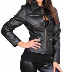 classic style designer fitted coat womens zip up biker leather jacket zoe black 20
