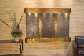 office water features. Adagio Water Features Olympus Falls Wall Fountain In Rustic Copper Finish With Rajah Natural Slate Feature, Rounded Hood \u0026 Tray | Live Well Stores Office
