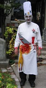 nick as a zombie chef