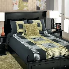 yellow and grey comforter sets light gray queen bedding white black