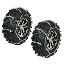 Quad Tire Size Chart Sponsored Ebay Front Atv Tire Chains Pair Polaris Big Boss