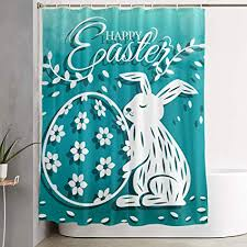 Shower Curtain Size Chart Amazon Com Pinata Easter Eggs Bunny Shower Curtain Liner