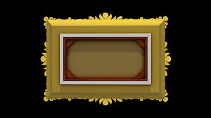 black and gold frame png. Luxury Gold Picture Frame Rotates On Black Background. Intro With Tv Noise And Green Screen, 3d Animation. Motion Background - Videoblocks Png
