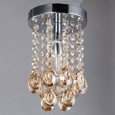 Us 3989 Luxus Mini Kleine Kristall Kronleuchter Leuchte Mit Champagne Teardrop Kristalle Für Wohnzimmer Schrank Bad Schlafzimmer In Luxus Mini