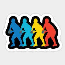 retro rugby pop art sticker