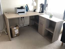 large l shaped computer desk corner pc table with shelves drawers home office