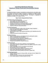 Warehouse Job Description For Resume Proper Resume Template Warehouse Resume Templates Lovely