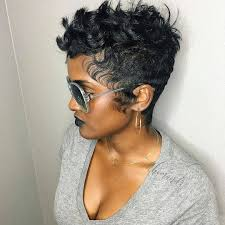 Black Woman Hair Style curly pixie cut with slight undercut for black women pixie cuts 3026 by wearticles.com
