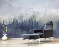 Beibehang Aangepaste Behang Nordic Verse Bos Landschap Ontwerp Tv