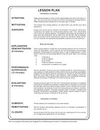 Sample Plan A Lesson Plan Sample Cityesporaco 5
