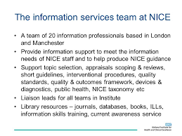 evidence in action moving from guidance to review ppt video  the information services team at nice
