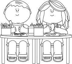 student desk clipart black and white. pin desk clipart cute student #5 black and white