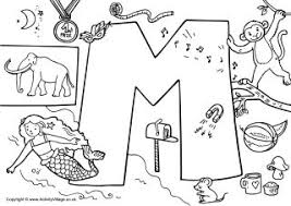 Small Picture Letter M Colouring Pages