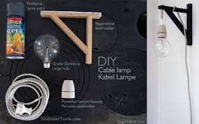 diy cable lighting. Diy Lamp Walllamp, DIY Cable From A Valter Shelf Holder Lighting L