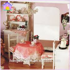 wholesale wooden doll dinning house furniture. wholesale diy mini wooden doll house miniature toys for kids dinning furniture y