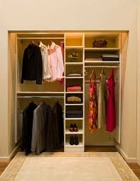simple modern minimalist closet ideas white color design equipped with proper lighting unit finished in small design idea