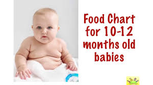 Food Chart 10 11 12 Months Old Babies 10 12 Months Baby Food Chart With Timing