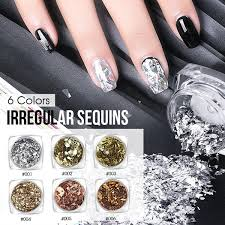 Colorful Holographic Nail Glitter Sequins 3d Irregular Broken Glass Nail Art Foils Flakes Aurora Manicure Decorations Saviland