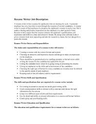 Example Of Resume For A Job Interesting Description Resumes Vaydileeuforicco