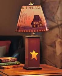 primitive lighting fixtures. Lamp Table Rustic Country Primitive Decorative Dual Lighting 3 Settings Cut Out Fixtures O