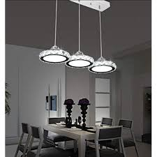 Dining room table lighting Farm Restaurant Chandelier Three Modern Minimalist Restaurant Lamp Chandelier Round Crystal Pendant Lamp Dining Bar Table Amazon Uk Dining Table Lights Amazoncouk