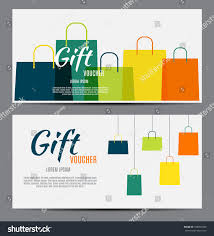 Gift Certificates For Your Business Gift Voucher Template Your Business Vector Stock Vector Royalty