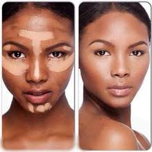 makeup contouring for black women