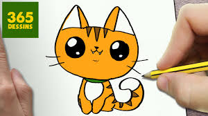 Comment Dessiner Chat Kawaii Tape Par Tape Dessins Kawaii
