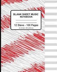 Blank Sheet Of Music