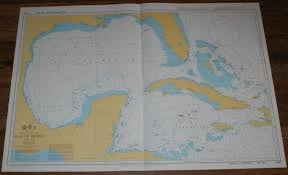Details About Nautical Chart No 4401 North Atlantic Ocean Gulf Of Mexico