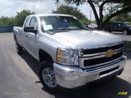 2013 Chevrolet Silverado 2500HD Work Truck Extended Cab in Silver ...