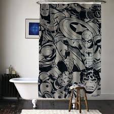 marvel super heroes comics characters special custom shower curtains available size comic curtain peanuts strip comics shower curtain