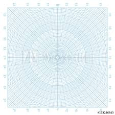 Polar Coordinate Circular Grid Graph Paper Background Buy This