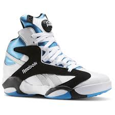 reebok basketball shoes pumps. reebok - shaq attaq white / black azure steel v47915 basketball shoes pumps
