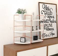 modern design rose gold metal makeup organizer rack office organizer shelf storage deskup bathroom