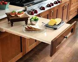 cutting board kitchen pull out acrylic counter lip countertop drop down microwave b
