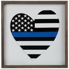 police heart wood wall decor hobby