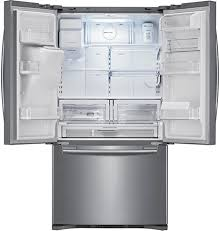 samsung refrigerator ice maker. The Samsung RFG298 And RF268 French Door Refrigerators Feature Industry First Dual Ice Maker, With An External Filtered Water Dispenser Located Refrigerator Maker A